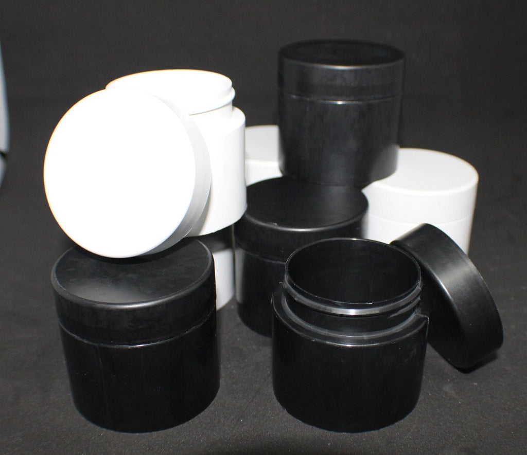 biodigradable compostable cannabis packaging jars 3.5-7grams flower or edible swhite or black