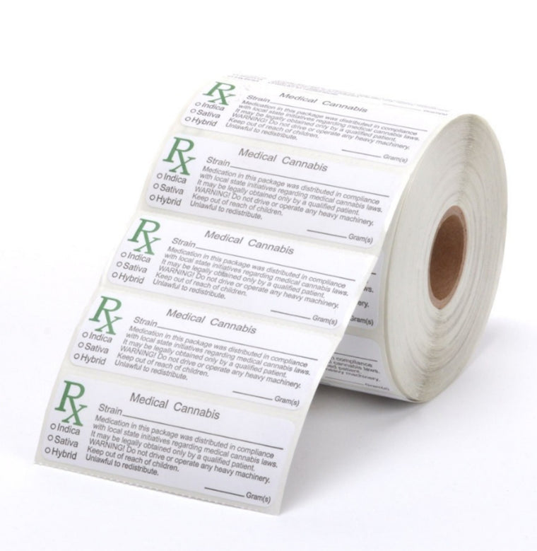 Medical Marijuana Labels - Generic - All States - MSN Packaging LLC