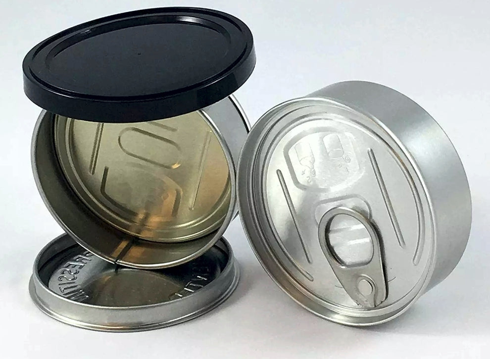 Self Seal Can Easy Peel Off Lids 3.5g Tin Weed Cans 600 MQO - MSN Packaging LLC