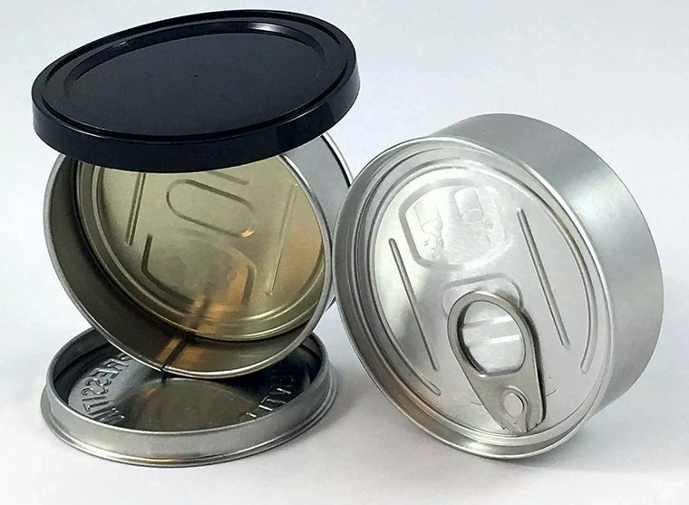 Self Seal Can Easy Peel Off Lids 3.5g Tin Weed Cans 2000 MQO - MSN Packaging LLC