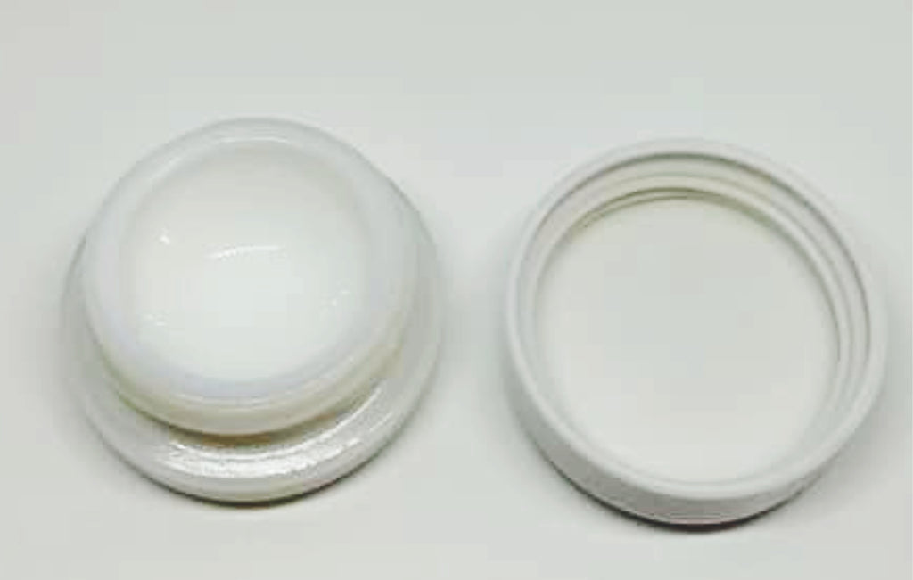 4ml Round Glass Child Resistant Concentrate Container White Opaque - MSN Packaging LLC