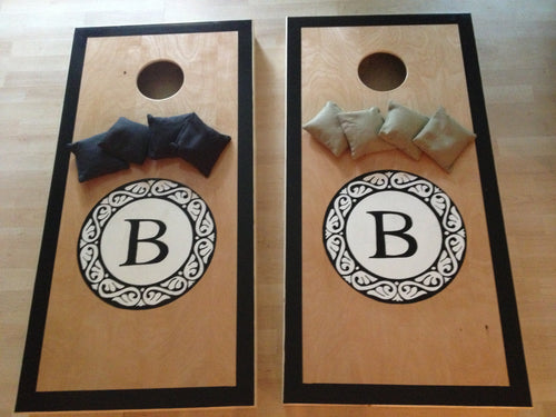 Monogram Seal Cornhole Board Set
