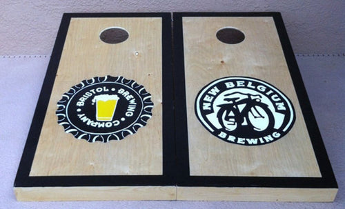 Craft Beer Lovers Cornhole Board Set with Bags