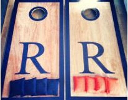 Bold Monogram Cornhole Board Set