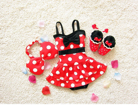 Baby Minnie Ruffled Swimdress