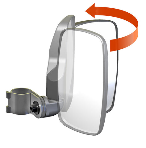 "Seizmik 1.75"" UTV Side View Mirrors Pair 18080"
