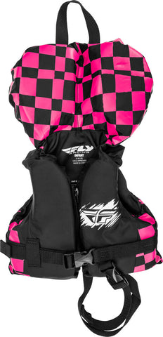 Tiny Boater Infant Size Nylon Life Vest Fly Racing Pink & Black for Under 30Lbs NEW