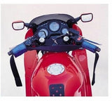 "Motorcycle Handlebar Harness Tiedown Nylon Cuff Straps Wide Bars up to 28"" Red"
