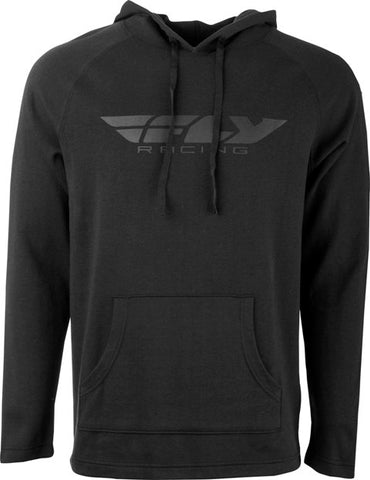 Men's Fly Racing Light Weight Casual Hoody Black Hooded Sweatshirt Black Hoodie