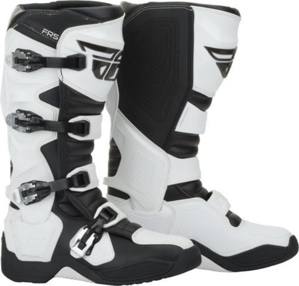 Motocross Dirt Bike MX FR5 Boots Fly Racing Riding Boot Mens 7-13 White NEW