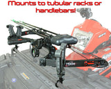 ATV Bow Gun Tube Rack Handlebar Mount V-Grip Adjustable Fit for Gun or Bow Curve