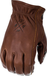 Men's Motorcycle Riding Gloves Highway 21 Louie Glove Brown Deer Skin Sm-3XL NEW