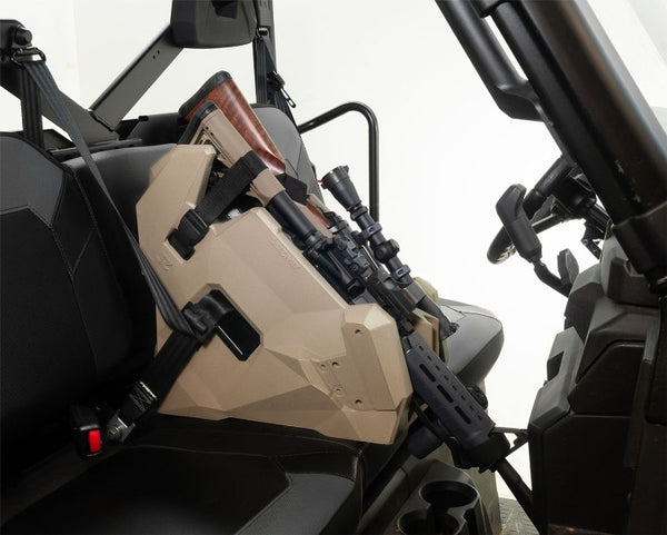 UTV RTV Golf Cart Farm Truck In Cab On Seat Gun Holder II Holds 2 AR Style Rifle