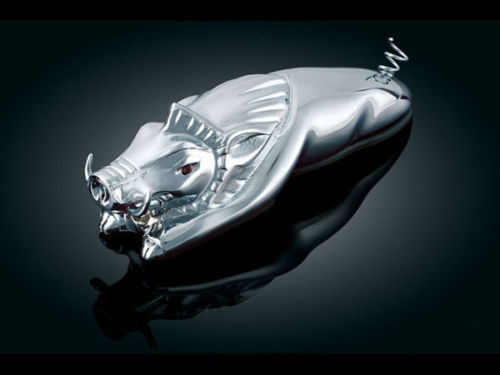 Kuryakyn Chrome Pig Wild Hog Fender Ornament Universal Fits Most Motorcycles NEW