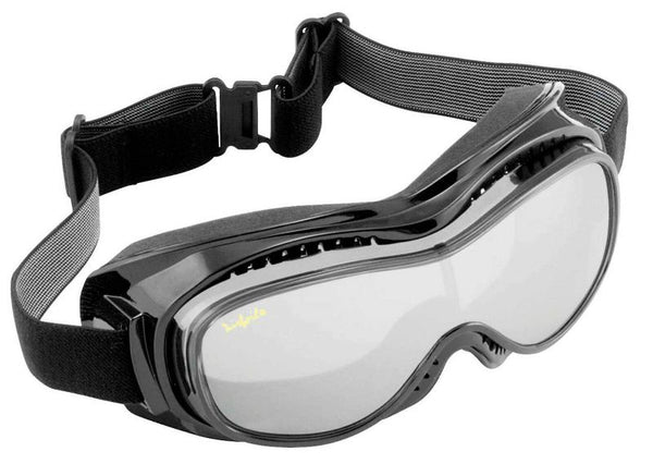 Jet Ski Wakeboard FLOATING GOGGLES That FIT OVER EYEGLASSES Black with Tinted Lens