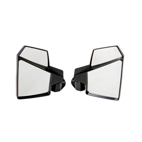 Kolpin 98315 UTV Break-Away Left & Right SIDE MIRROR Shatter-Proof SET Black