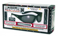 Motorcycle Work Sunglasses OSHA approved Black Frame Clear to Self Tinting Photochromatic Lenses