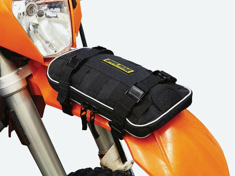 "Nelson Rigg Dual Sport Enduro Motorcycle 1 Lt Front Fender Bag Mounting Hardware 11"" x 7"" Lifetime Warranty"