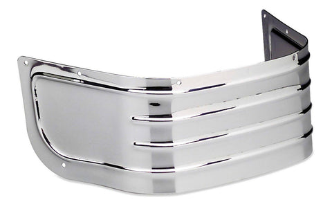 Chrome Ribbed Front Fender Skirt for Harley Davidson FLT, FLHT, FLSTC MODELS