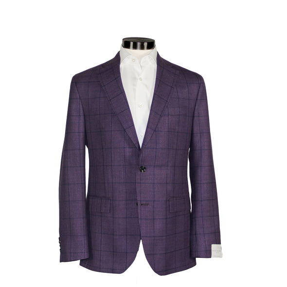Plum Check Midland Contemporary Fit Sport Coat