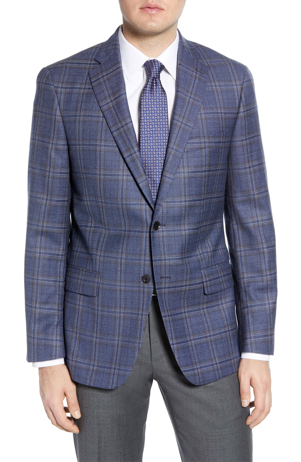 Blue Plaid Gibson Classic Fit Sport Coat