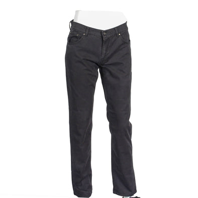 Charcoal Brushed Cotton Stretch 5-Pocket Contemporary Fit