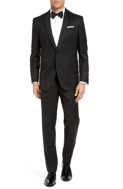 Josh Trim Fit Black Shawl Lapel Tuxedo