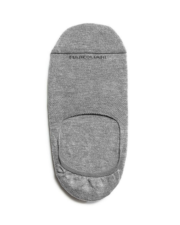 Gray Invisible Touch No-Show Socks