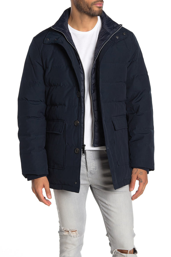 Jesse Navy Quilted Puffer Winter Parka