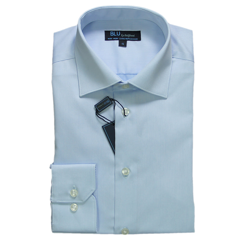 Powder Blue Dress Shirt • Slim Fit • Non-iron