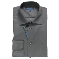 Charcoal Dress Shirt • Slim Fit • Non iron