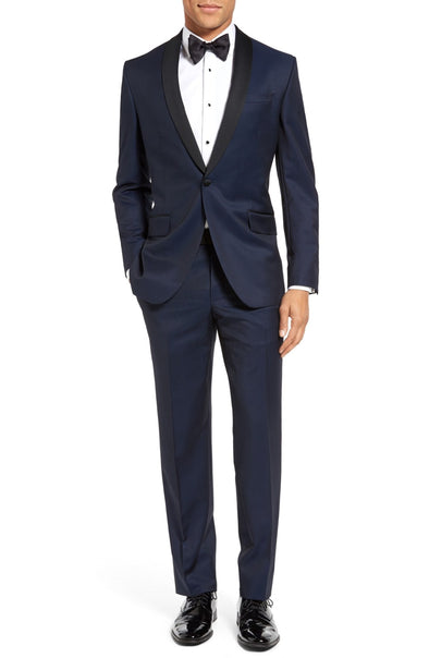 Josh Trim Fit Navy Shawl Lapel Tuxedo
