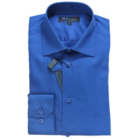 Royal Blue Dress Shirt • Slim Fit • Non-iron
