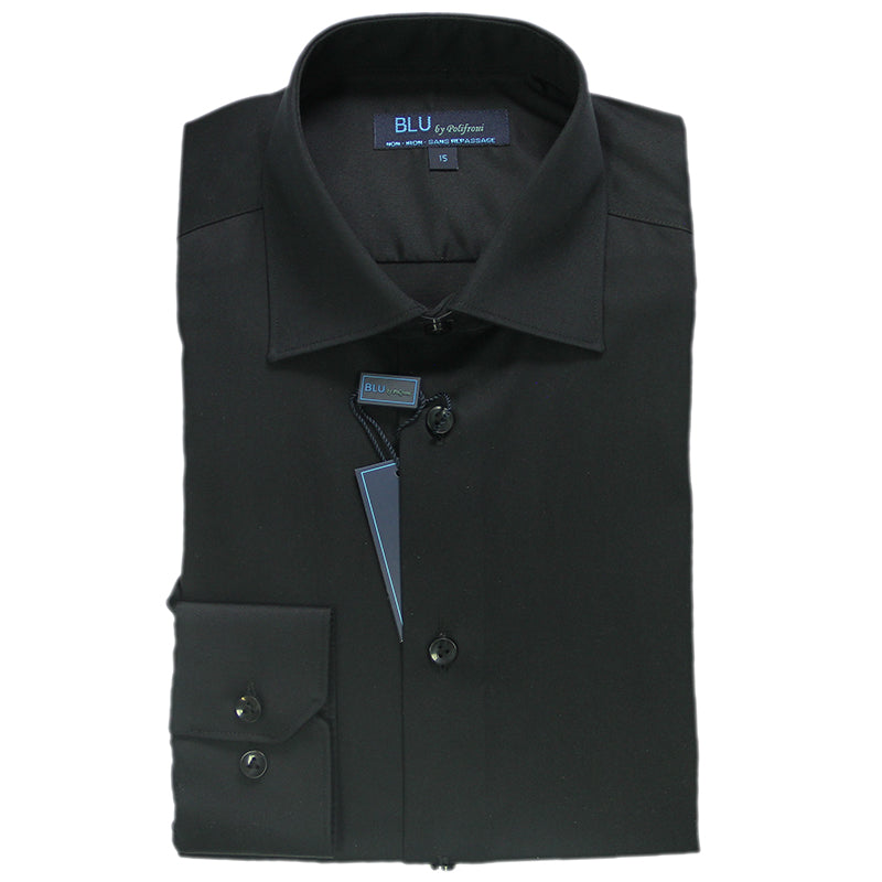 Black Dress Shirt • Slim Fit • Non-iron
