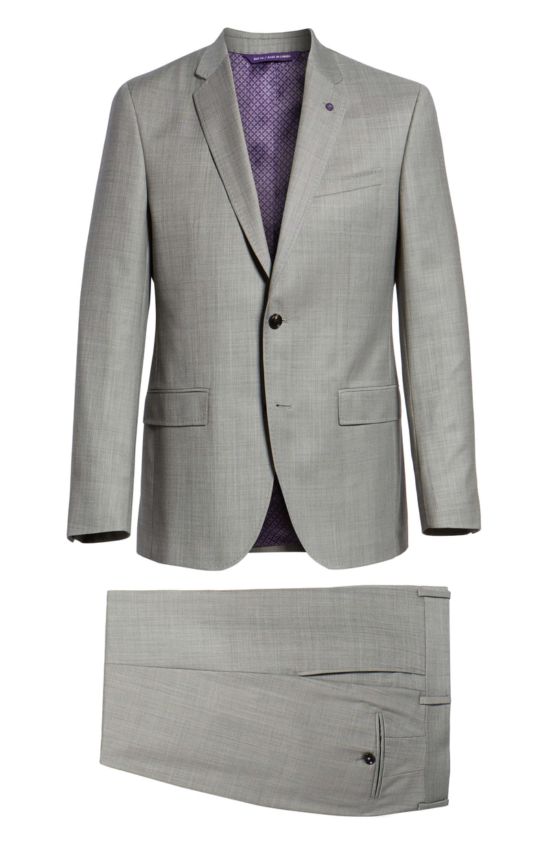 """JAY"" Grey Sharkskin • Slim Fit Suit • Ted Baker"