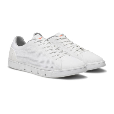 Swims - White Breeze Tennis Knit Sneaker