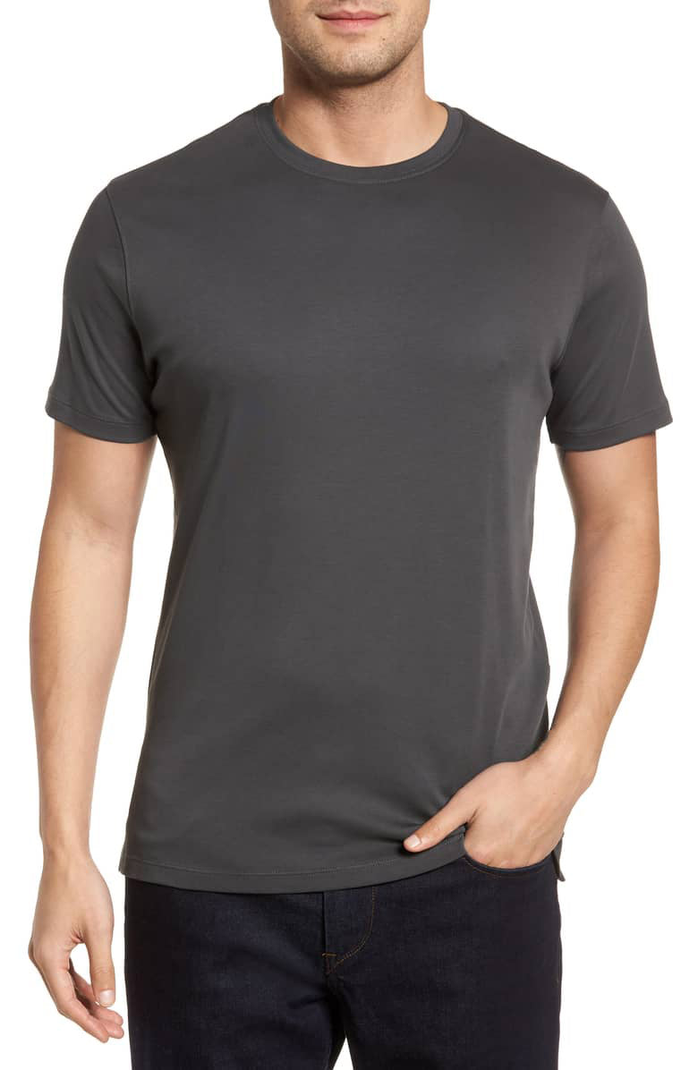 Luxurious Iron Pima Crew Neck T-Shirt