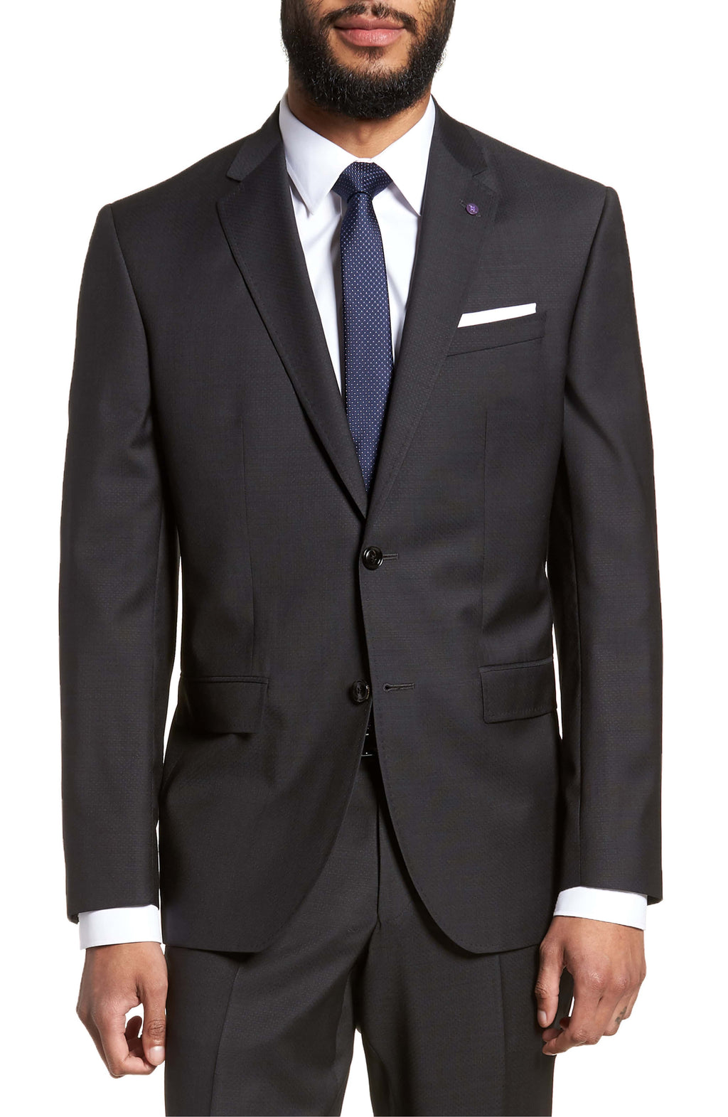 Jay Charcoal Slim Fit Suit