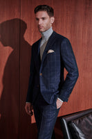 Blue Check - Engel - Modern Fit - Peak Lapel