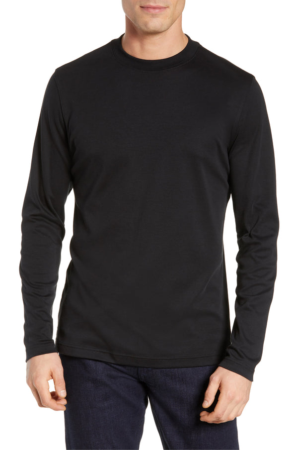 Robert Barakett - Black Georgia T-Shirt High Crew Long Sleeve