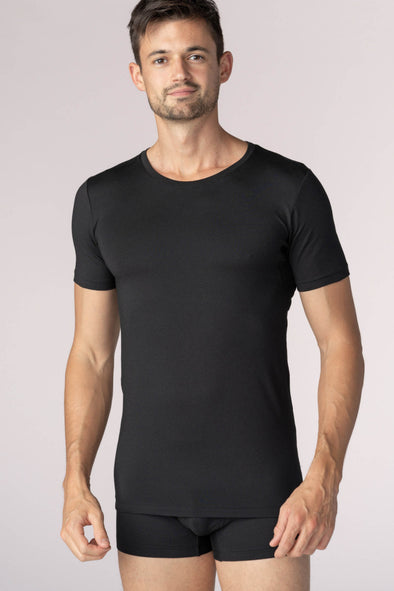 Black Mey Deep Crew-Neck Business-Class Undershirt