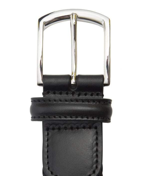 Solid Black Woven Belt - Anderson's