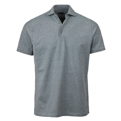 Grey Oxford Polo Shirt