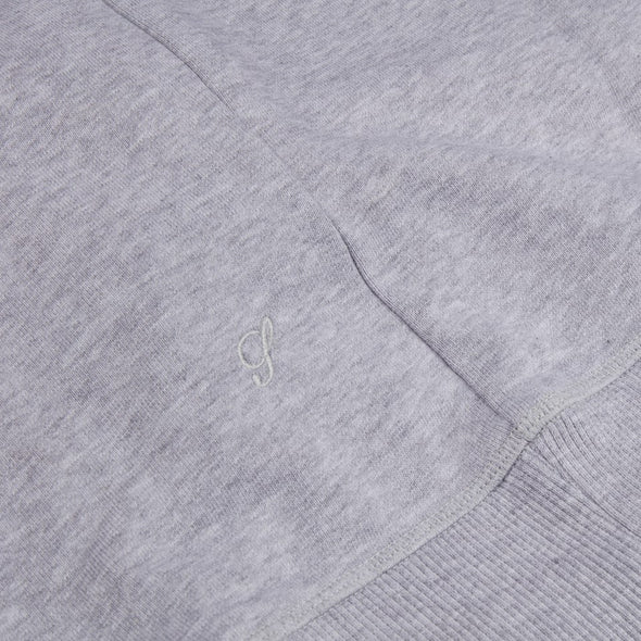 Italian Cotton College Hoodie Grey - Stenströms