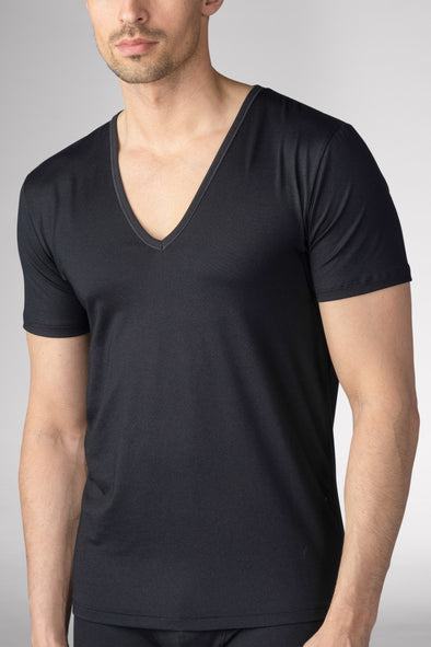 Black Mey Deep V-Neck Business-Class Undershirt