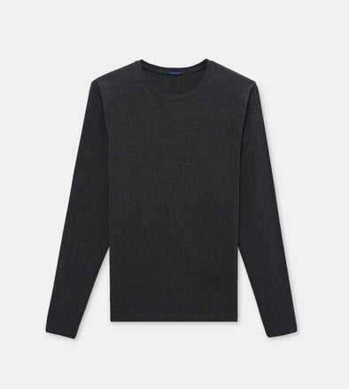 Charcoal Pima Stretch Long Sleeve T-Shirt