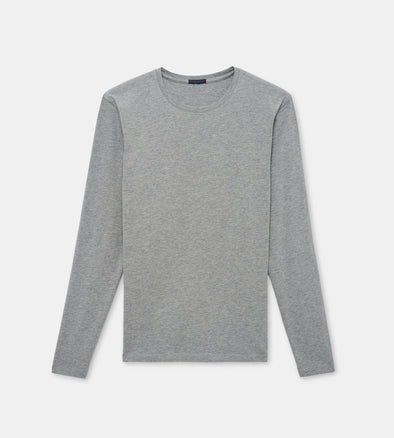 Mist Mélange Pima Stretch Long Sleeve T-Shirt