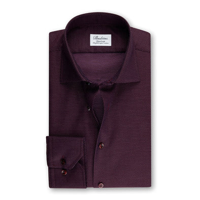 Purple Dotted Fitted Body Shirt - Stenströms