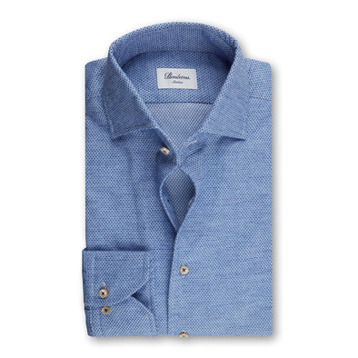 Blue Diamond Flannel Fitted Shirt - Stenströms
