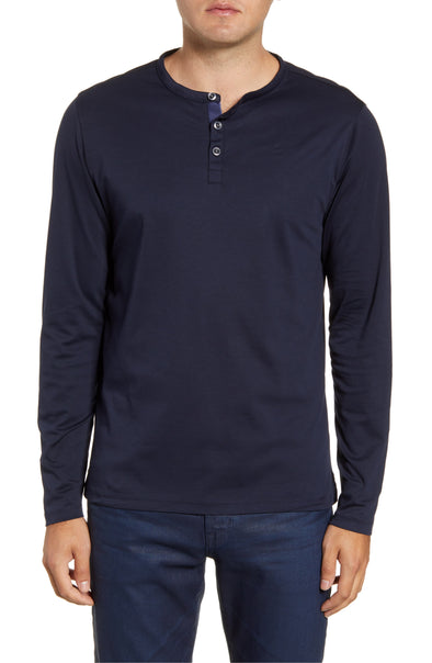 Dark Caspian Georgia Long Sleeve Henley